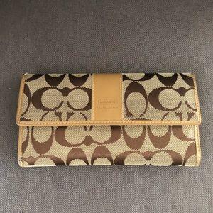 Coach monogram wallet